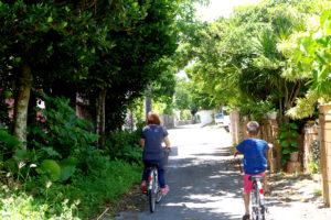 石垣島での家族サイクリング