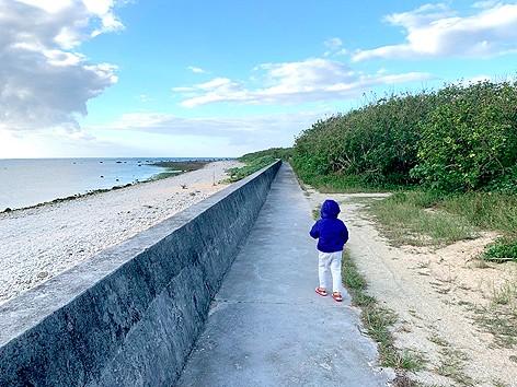 白保海岸の浜辺